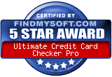 5 Star award at FindMysoft.com