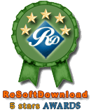 5 Star Award at RoSoftDownload.com