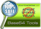 Base64 Tools is clean! DownloadAtlas.com